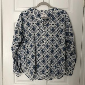 "LOFT size large pullover ""softened"" blouse."